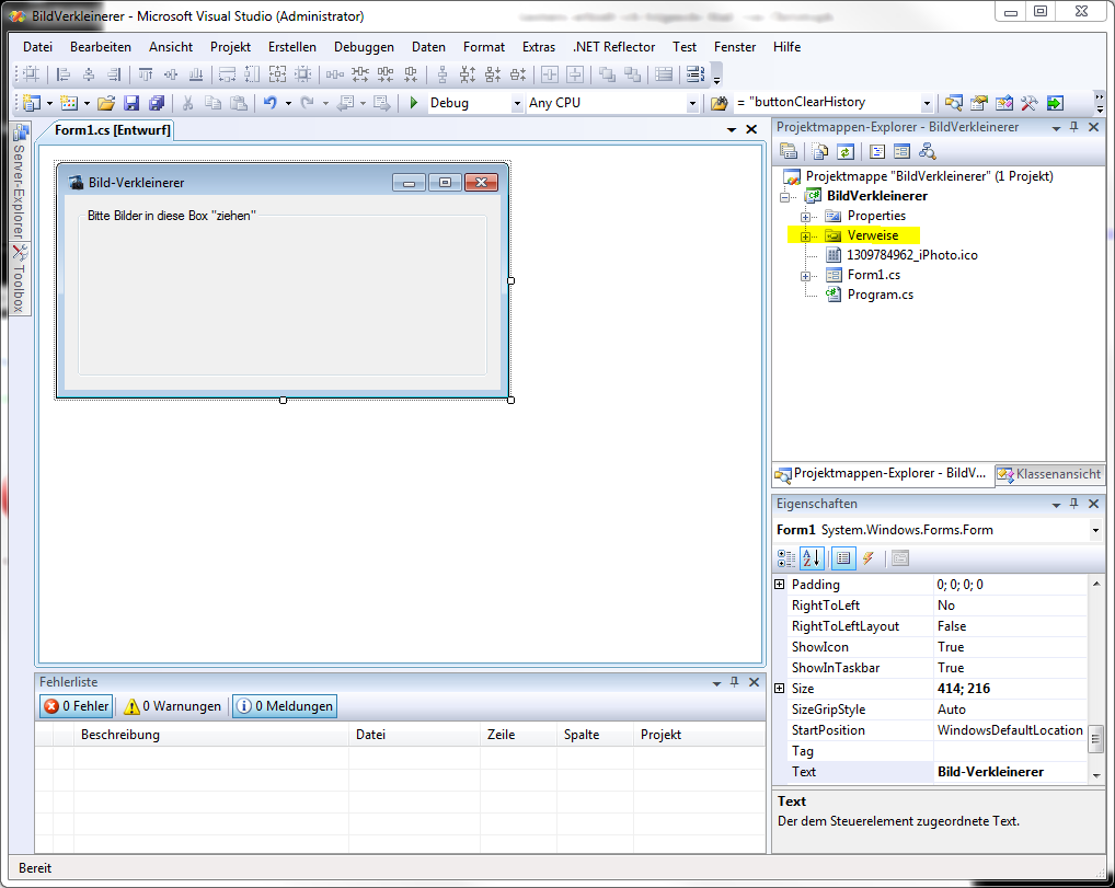 Dlls in Visual Studio C# Projekte einbinden