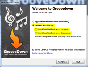 groovedown install