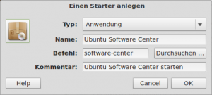 ubuntu software center menü eintrag 300x135 Ubuntu Software Center unter Linux Mint 12 nutzen
