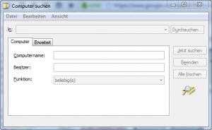 Active Directory Computer suchen unter Windows 7