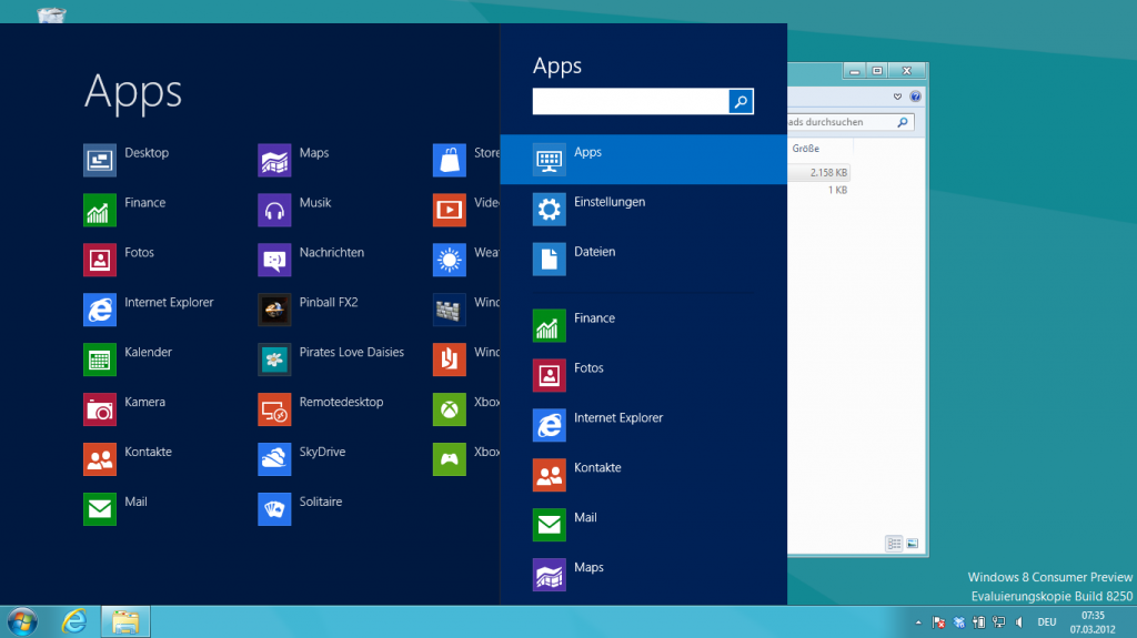 Windows 8 Startmenü mit Start8
