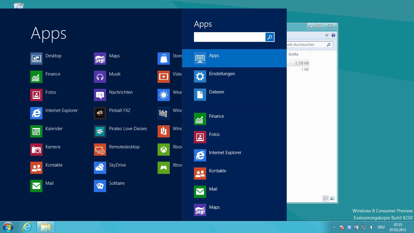 Startmenü für Windows 8 – die Zweite
