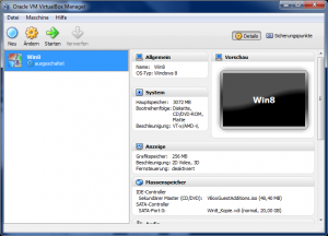 VirtualBox Windows 8