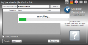 myspace 3.0 11 300x155 Projekt: MySpace Loader ein MySpace Downloader