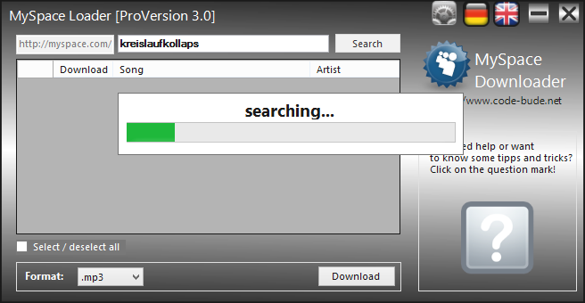 Free Way to Download and Convert Myspace to MP3
