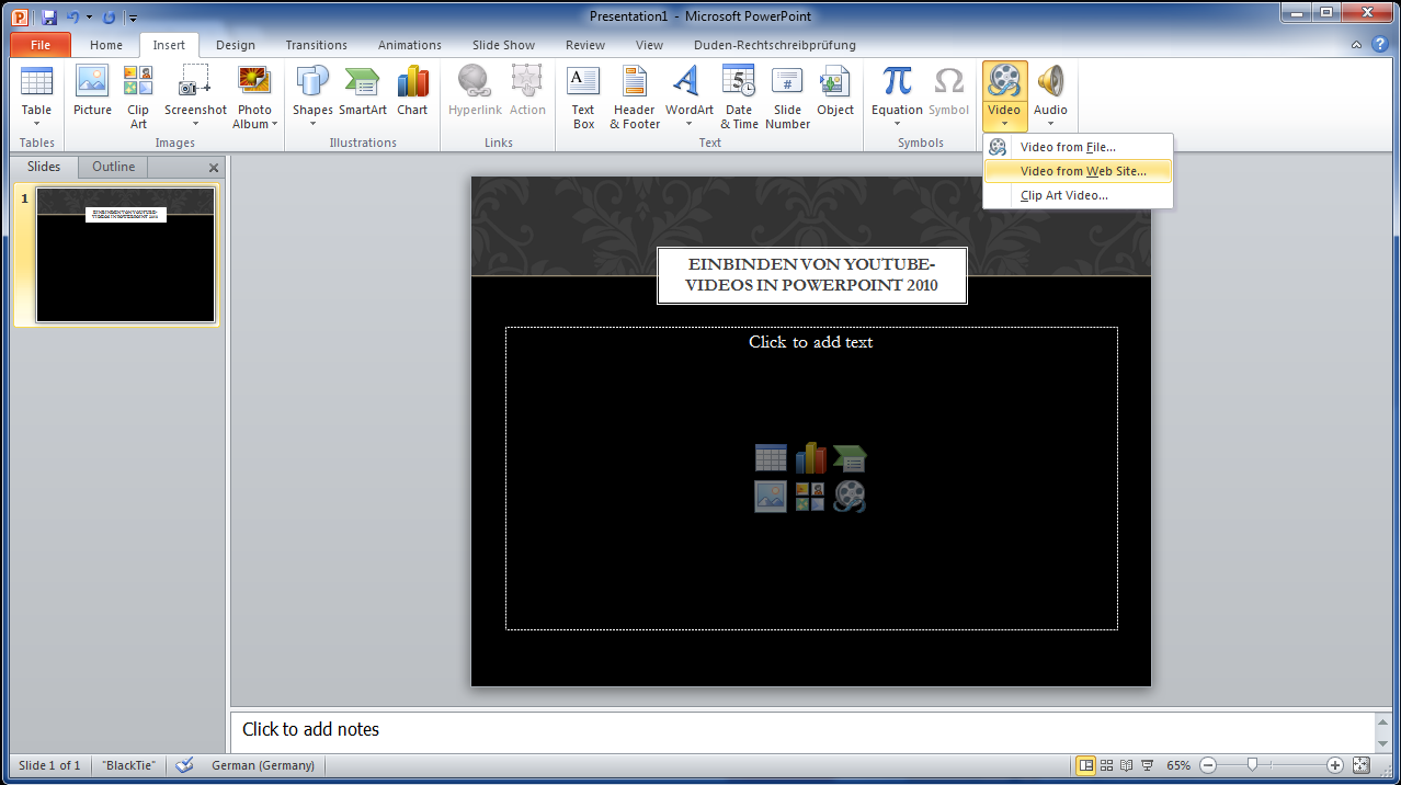 3 Youtubevideos In Powerpoint Einbinden 4
