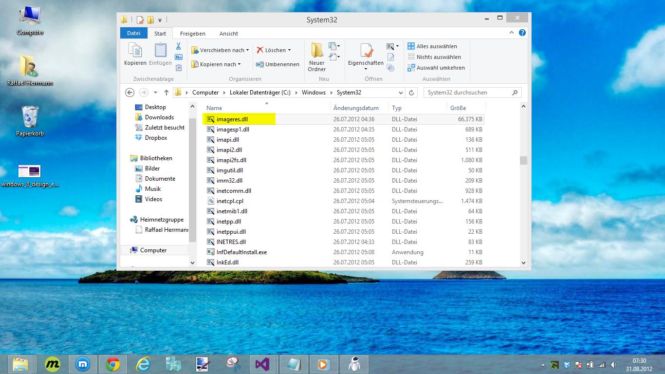 Benutzerdefinierte Hintergrundbilder in Windows 8