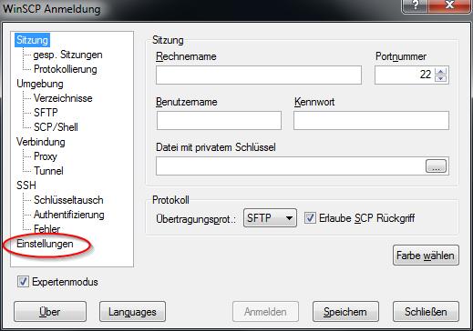 Notepad++ als Standardeditor für WinSCP benutzen