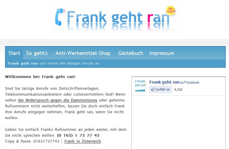 Ungebetene Anrufer loswerden – Frank geht ran!