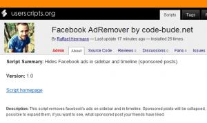 Facebook AdRemover Artikelbild