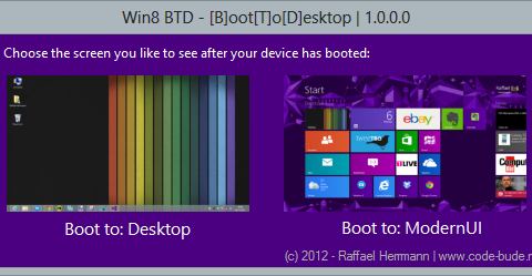 Win8 BTD BootToDesktop 1.0.0.0 Screenshot 1 480x249 Downloads