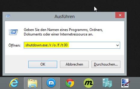 Windows 8 unsignierte Treiber installieren