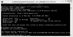 openssh for windows logged in