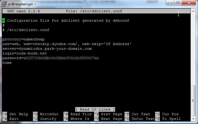 Namecheap.com DynDNS mit DDclient auf dem Raspberry Pi benutzen