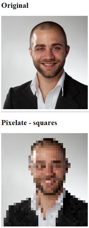Bilder verpixeln in Javascript