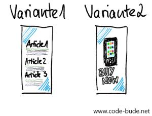 Split Testing - Varianten