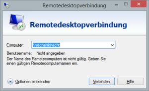Remotedesktop Verbindung