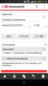 Deutsche Bahn App Abfahrtszeit