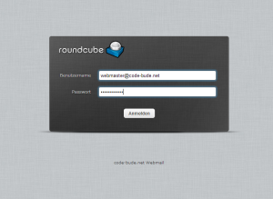 Roundcube login