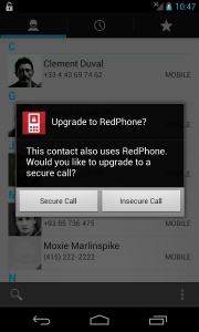 redphone verbindung
