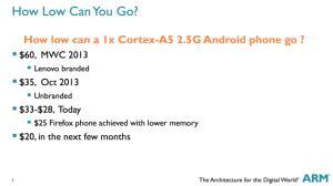 15€ Smarphone - nach Aussagen von ARM