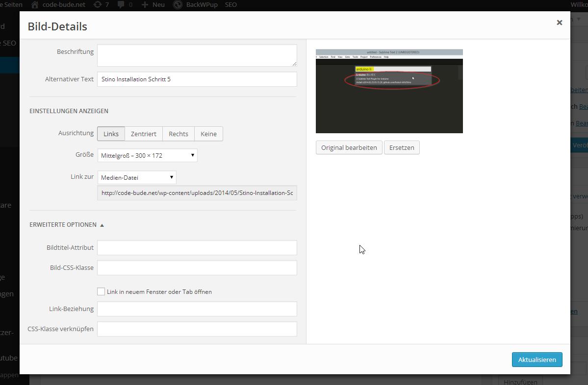 Rand- und Rahmeneinstellungen für Bilder in WordPress 3.9 aktivieren ...