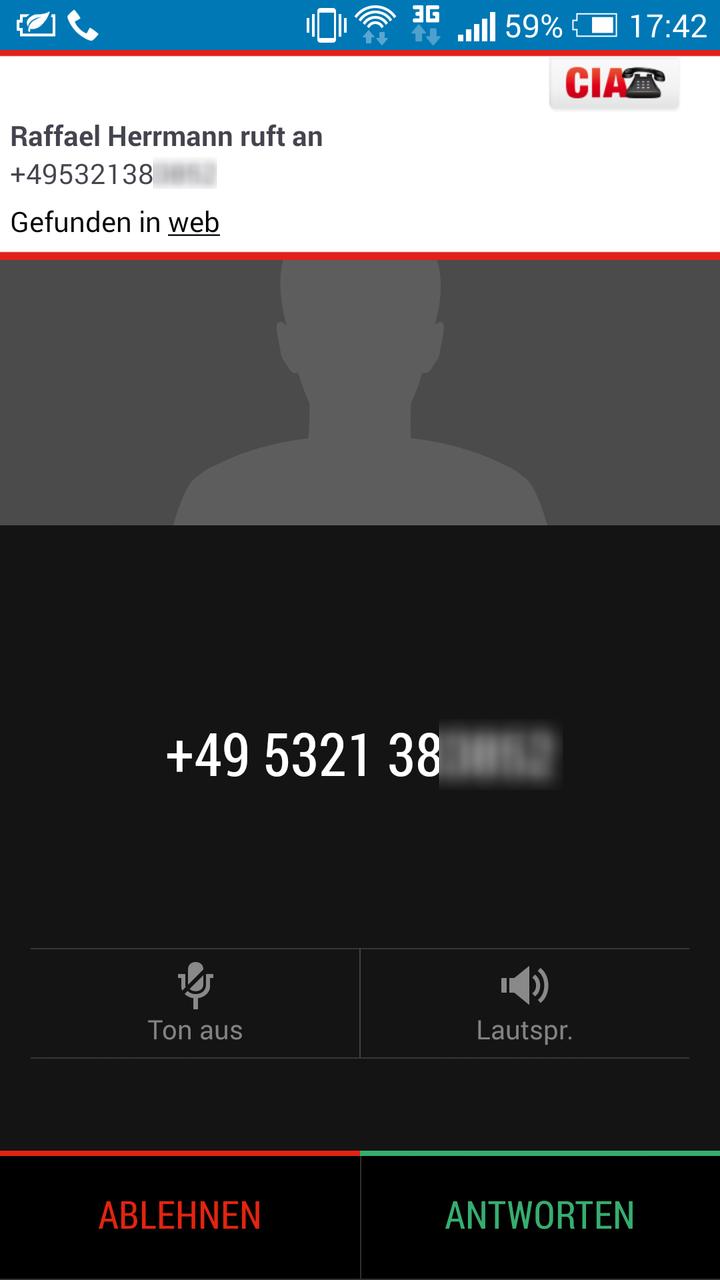 Unbekannte Anrufer sofort entlarven