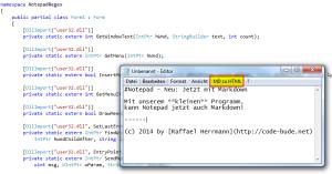 Programme per C# manipulieren - am Beispiel Notepads