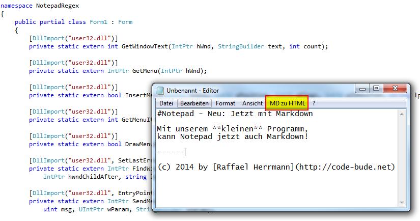 Beliebige Programme per C# manipulieren