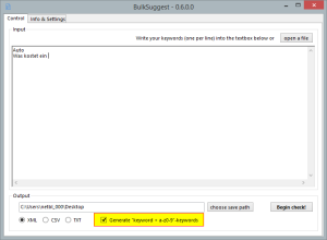 BulkSuggest 0.6.0.0 - neues Feature