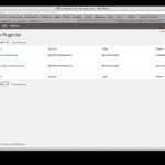 WPCore - Plugin Installationsliste
