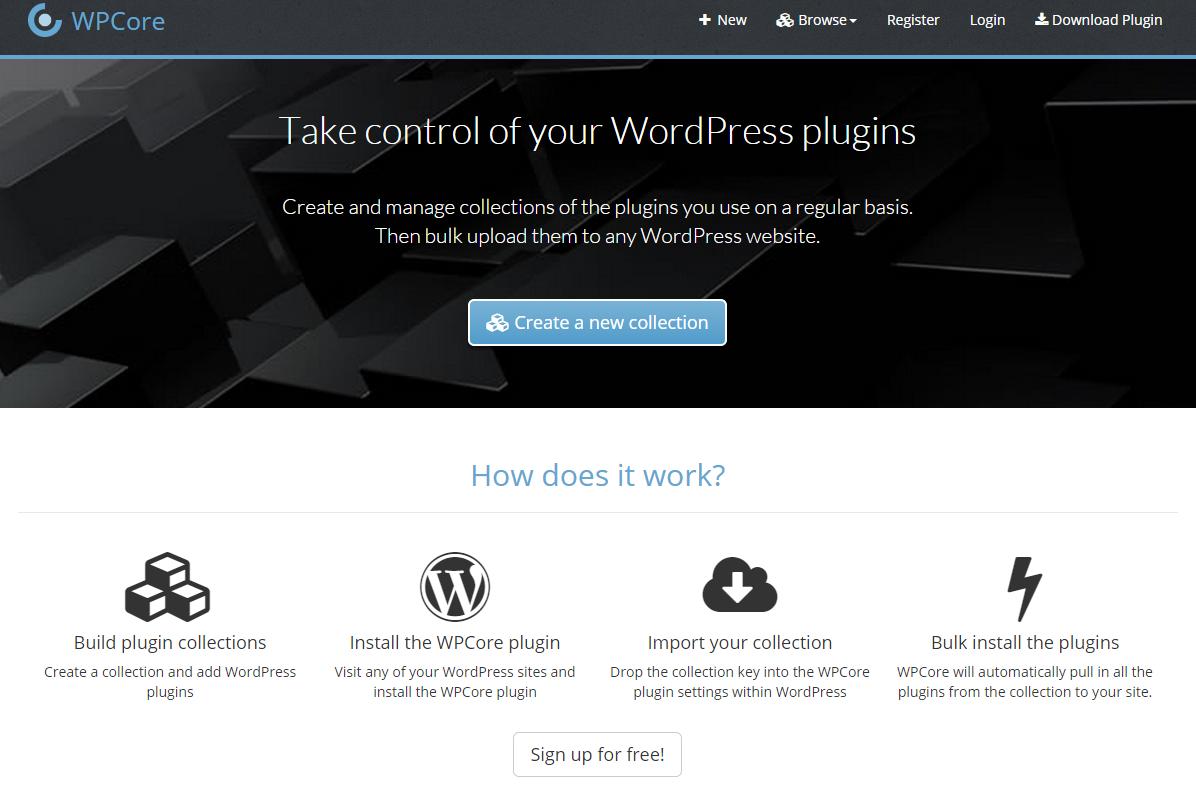 WordPress Plugins zu Paketen schnüren mit WPCore