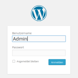 WordPress Loginfenster