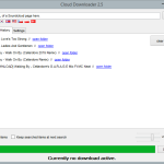 Cloud Downloader 2.5 - History