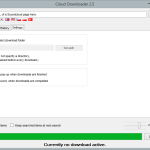 Cloud Downloader 2.5 - Settings