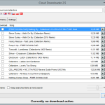 Cloud Downloader 2.5 - Song list