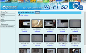 Transcend WiFi SD Webbrowser