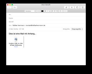 Apple Mail - Dateien als Anhang