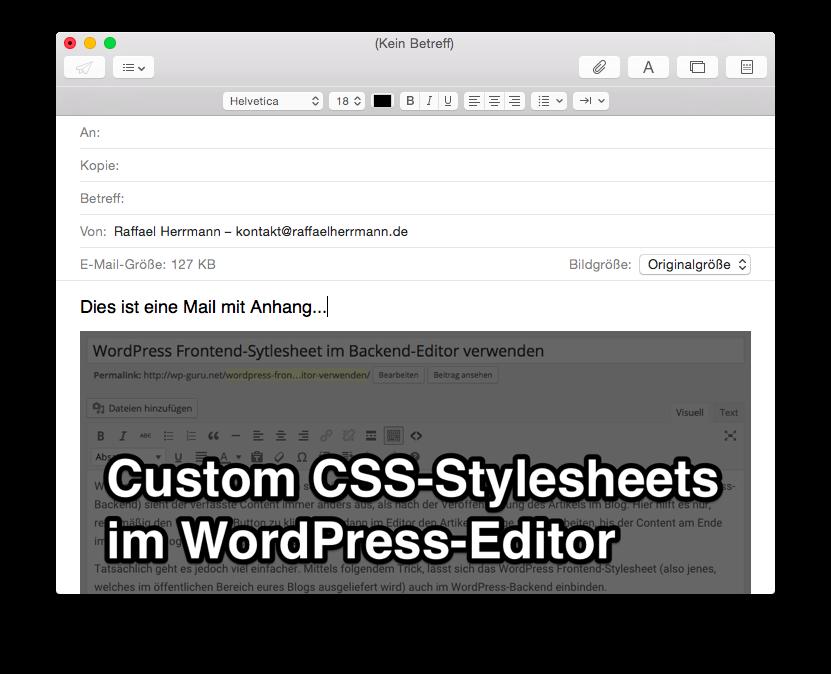 MAC OSX Mail – Dateien im Anhang statt Inline versenden