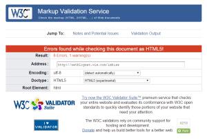 WIX W3C Validator