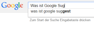 Was ist Google Suggest