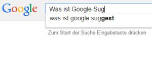Was ist Google Suggest