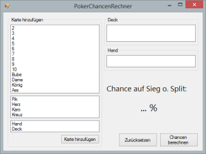 PokerChancenRechner - Start