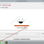 Cloud Downloader 2.6 - Status in Taskbar