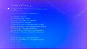 Windows 10 unsignierte Treiber - Optionsmenü (5)