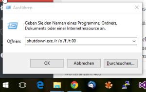 Windows 10 unsignierte Treiber installieren durch Neustart