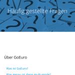 GoEuro App F.A.Q.