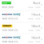 GoEuro App - Bus