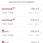 GoEuro App - Flugzeug
