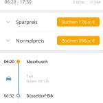 GoEuro App - Detailansicht